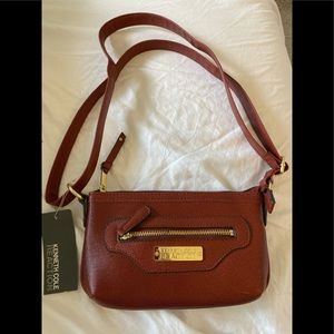 NWT Kenneth Cole Reaction Red Brown Purse